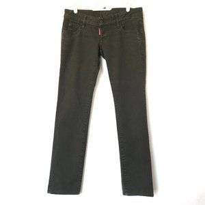 Dsquared² Jeans Low-Rise Olive Green Stretch 31x29